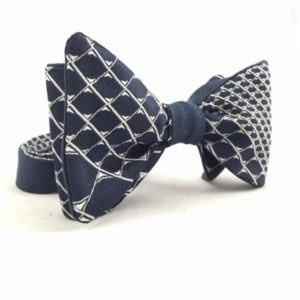Papion self-tie bleumarin